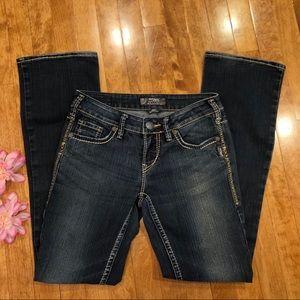 Silver AIKO bootcut jeans denim